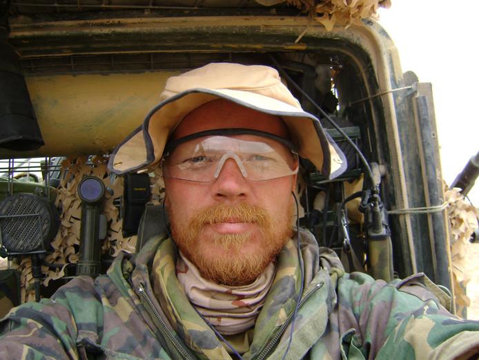 Dennis van der Kraats, toen nog militair.