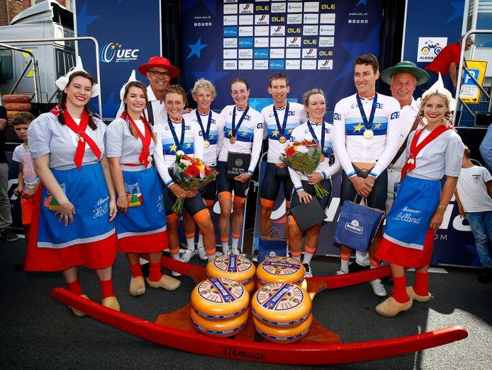 De Nederlandse ploeg veroverde in Alkmaar de Europese titel.
