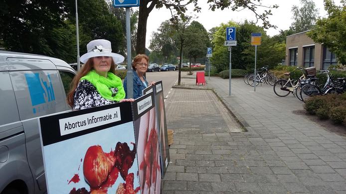 De demonstratie van abortusinformatie.nl in Goes.