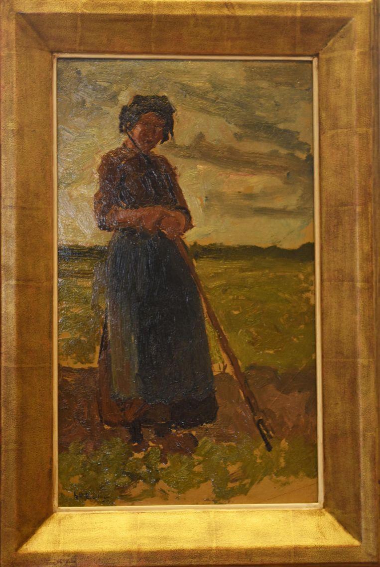 Een schilderij van George Hendrik Breitner (1857-1923) met Hollandse meid. Een van de werken die door de vermogende kunstverzamelaar Frans le Cocq d'Armandville aan het Westfries Museum heeft geschonken. Beeld