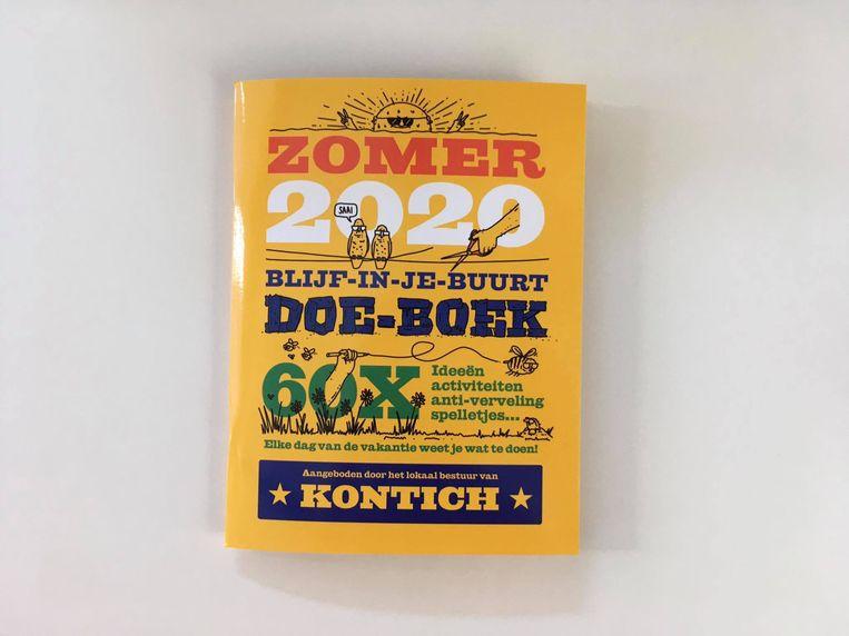 Het doe-boek dat de Kontichse kinderen ontvangen.
