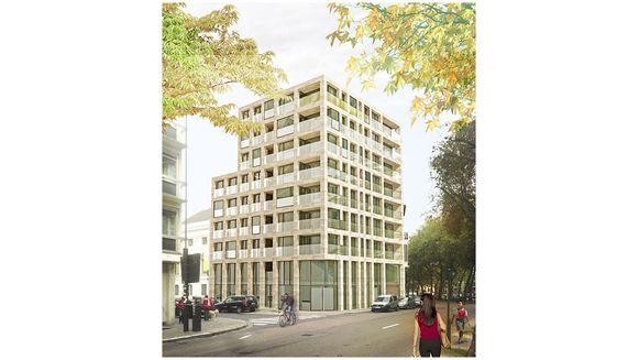 Zo zal het appartementsgebouw eruitzien.