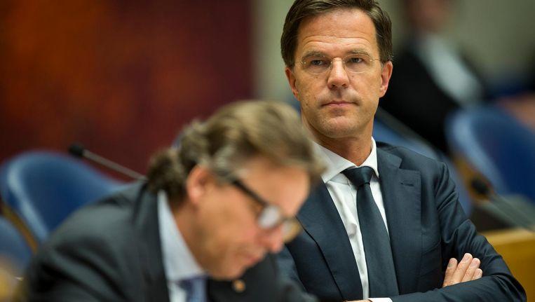 Premier Mark Rutte en minister Bert Koenders van Buitenlandse Zaken tijdens een Tweede Kamerdebat in mei 2016. Beeld anp