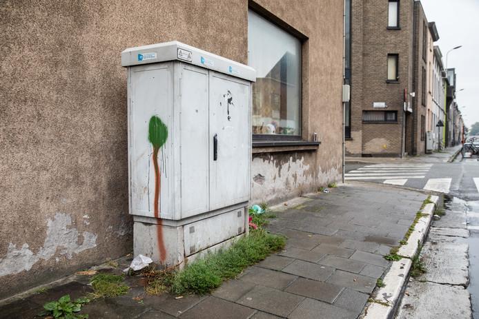 Elektriciteitskast in Drongensesteenweg in Gent