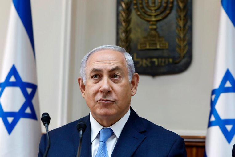 De Israëlische premier Benjamin Netanyahu Beeld null