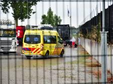 Vrachtwagenchauffeur gewond op parkeerplaats Duiven
