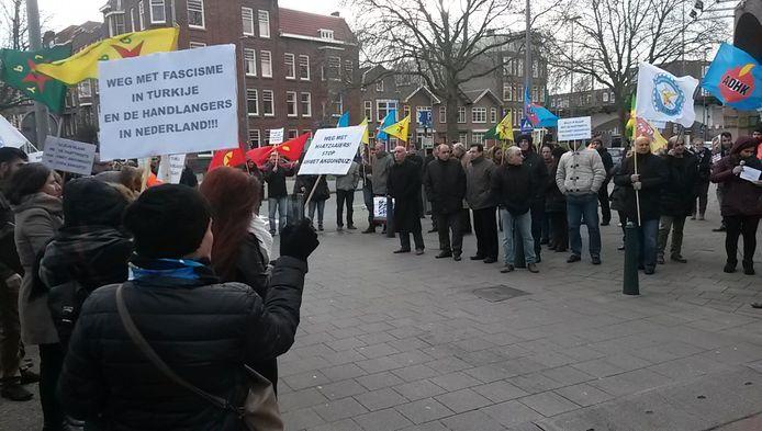 De demonstratie in Rotterdam