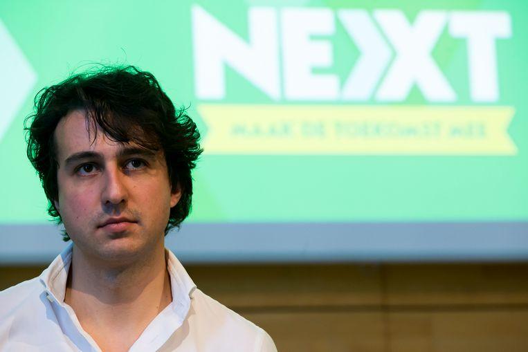 De Nederlandse leider van GroenLinks, Jesse Klaver, op het Next-congres van Groen.