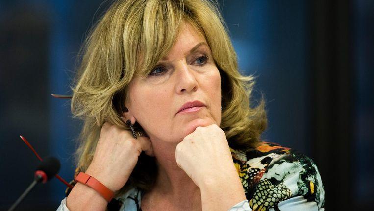 'Tekenend voor D66 als zelfbeschikkings-fundamentalistische partij, is Pia Dijkstra die haar Initiatiefwet 'Waardig Levenseinde' door blijft drijven.' Beeld Freek van den Bergh / de Volkskrant