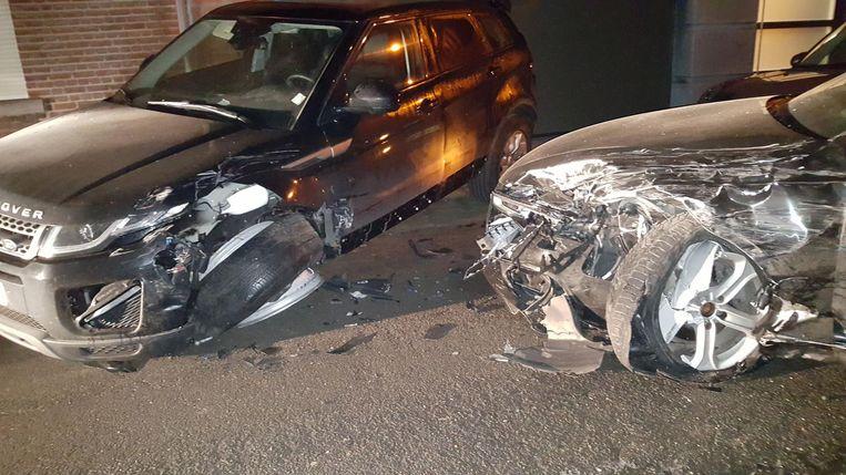In de Kasteelstraat ramde een wagen de twee voertuigen van Nordine Ben Ghanen en zijn vrouw.