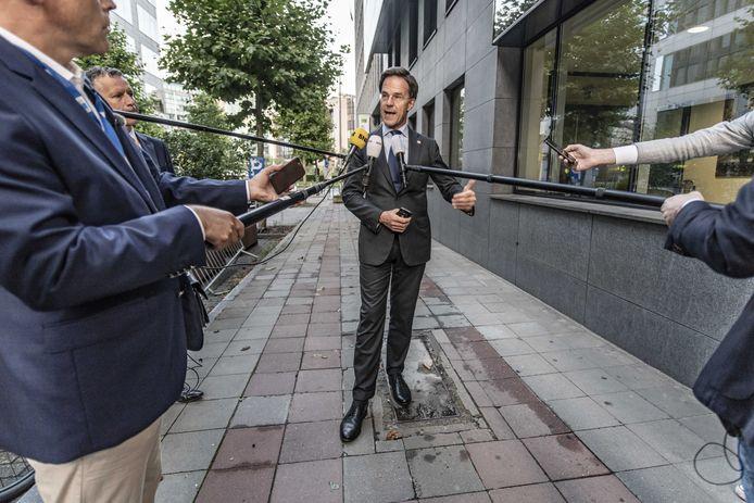 Premier Mark Rutte vanochtend vroeg na het opbreken van de onderhandelingen.