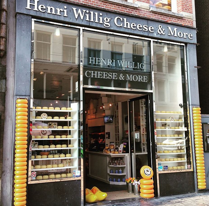 Een afbeelding van één van de winkels van Henri Willig Cheese & More.