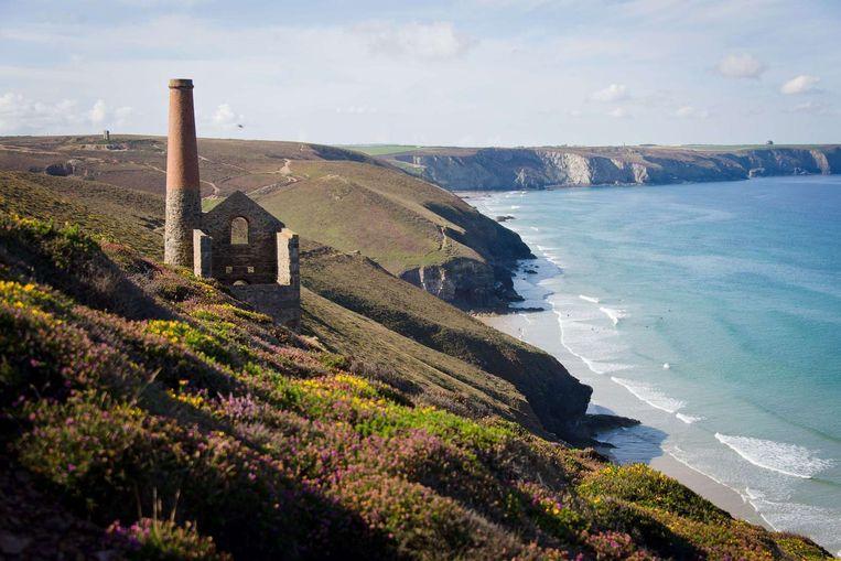 De kust bij Cornwall (archieffoto)
