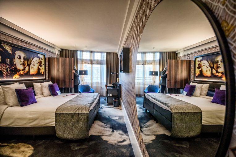 Kamer in het vernieuwde American hotel, nu Hard Rock Hotel.  Beeld Raymond Rutting
