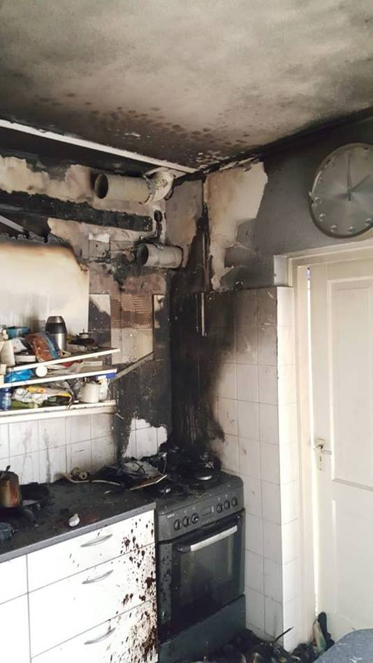 Keukenbrand in Kaatsheuvel.