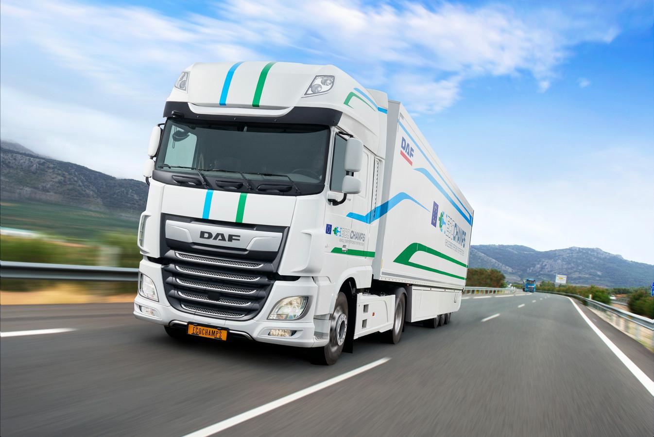 DAF heeft een hybride innovatietruck ontwikkeld binnen een Europees subsidieproject waar 26 bedrijven aan deelnemen.