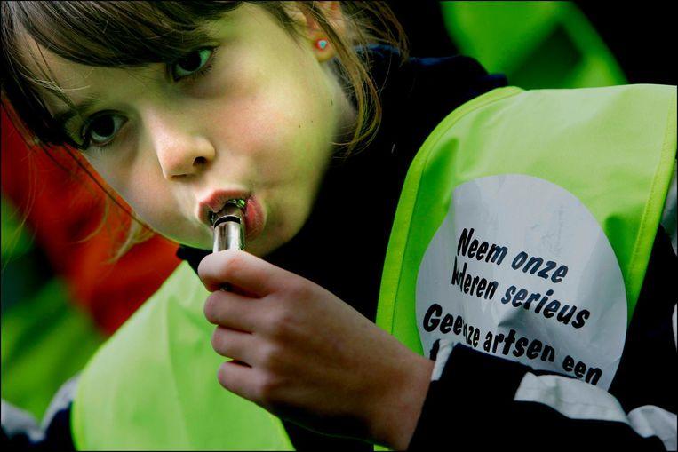 Demonstratie van kinderen met ADHD in Den Haag (2006). Beeld ANP