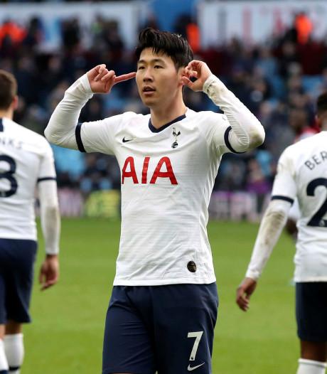 Son helpt Spurs aan late zege op Aston Villa