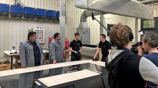 Scene uit tv programma 3man Sterk.