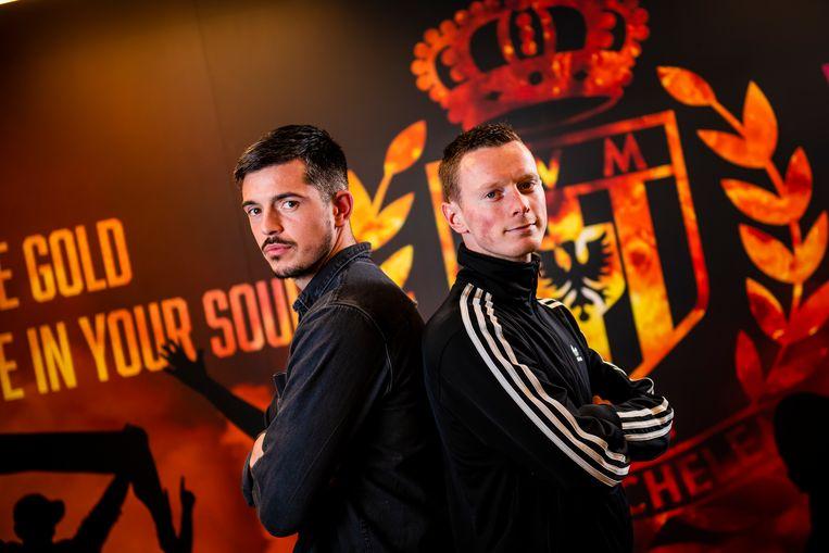 Yannick Thoelen (l.) en Rob Schoofs voelen zich prima bij KVMechelen.
