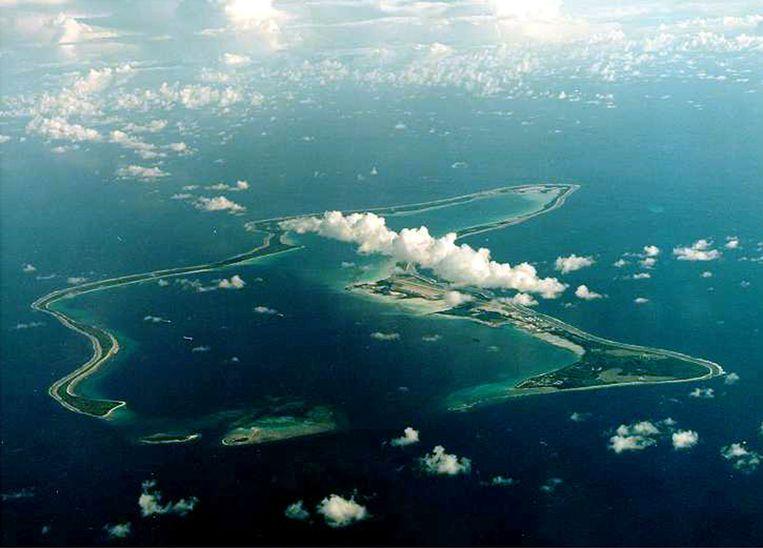 Diego Garcia, het grootste eiland van het Chagos-archipel Beeld REUTERS