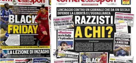 """""""Black Friday"""" avec Lukaku et Smalling: la contre-attaque du Corriere dello Sport après la polémique"""