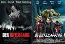 De bewerkte posters van Der Untergang en The Avengers.