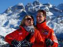 Michael Schumacher et son épouse Corinna en 2005.