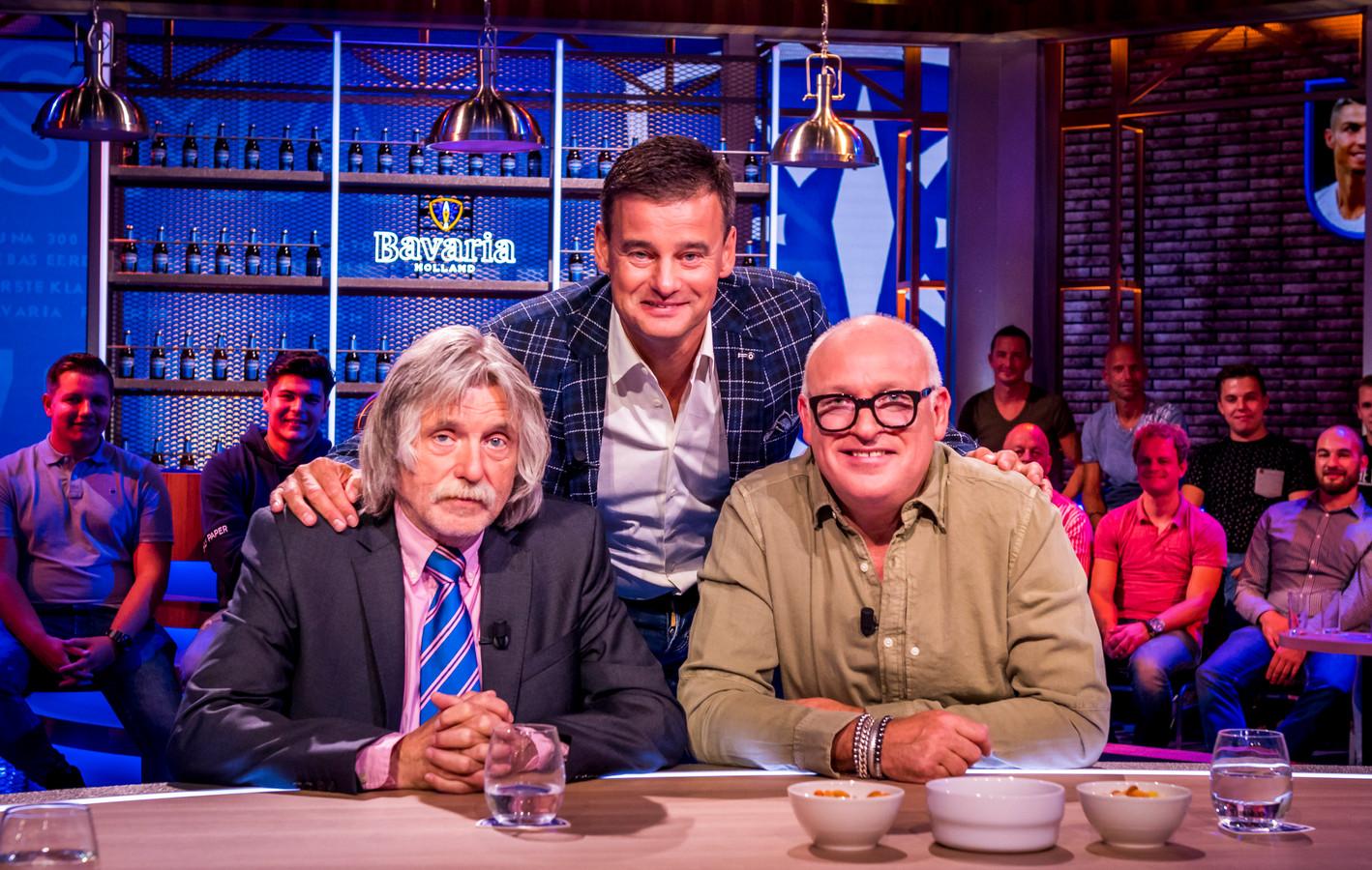 Vlnr: Johan Derksen, Wilfred Genee en Rene van der Gijp.