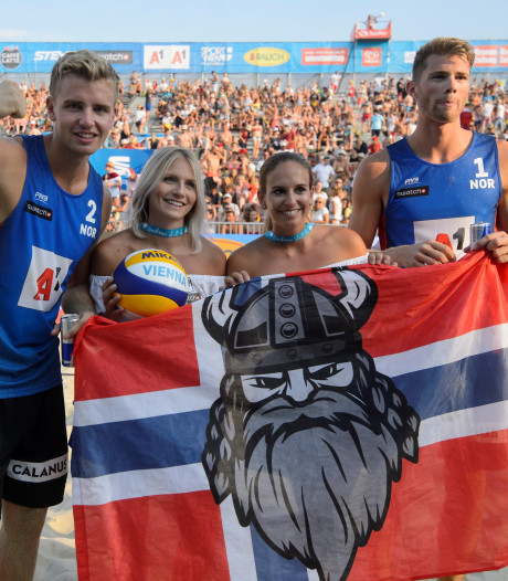 Noorse beachvolleyballers winnen World Tour in Hamburg