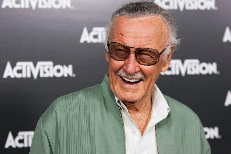 Stan Lee tijdens een bijeenkomst in Los Angeles. Beeld REUTERS