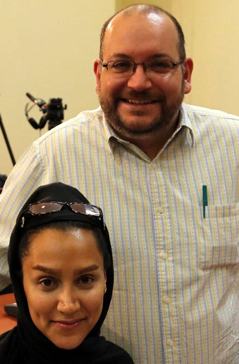 Archieffoto van Jason Rezaian en zijn vrouw Yeganeh Salehi. Beeld afp