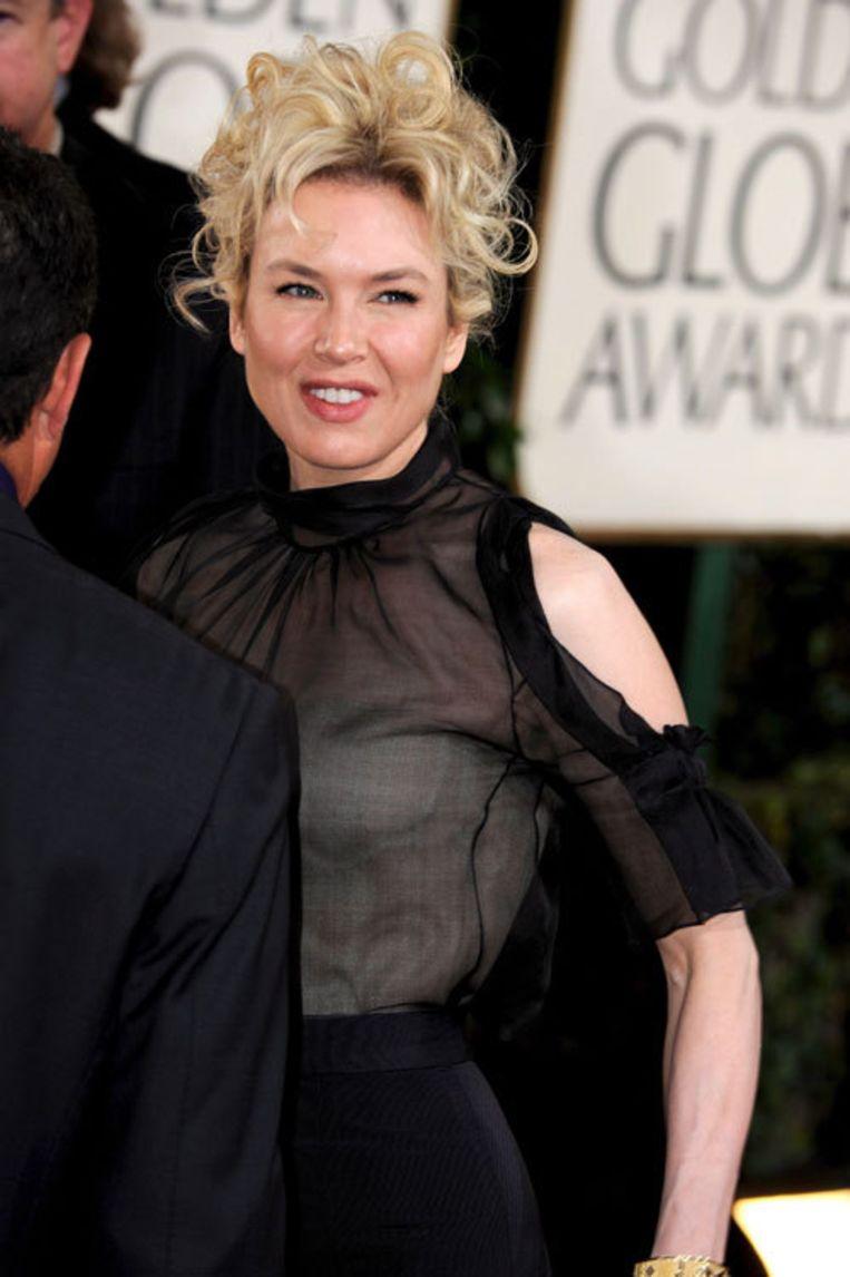 Zellweger speelde twee keer eerder de naar Hollywood-maatstaven mollige Bridget Jones. Foto EPA Beeld