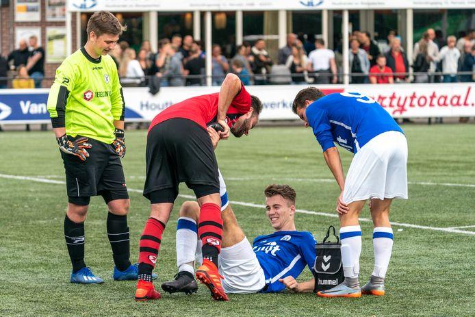 Excelsior Zetten en SC Valburg in hun onderlinge bekerwedstrijd: 0-0.