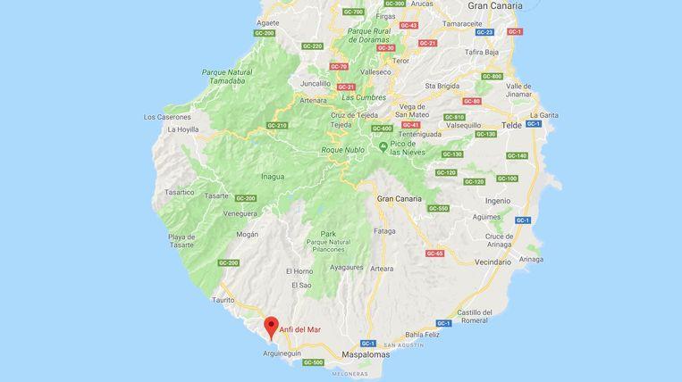 Het ongeval gebeurde in Anfi Del Mar, op het eiland Gran Canaria.