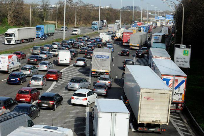 Embouteillages sur le ring de Bruxelles (archives).