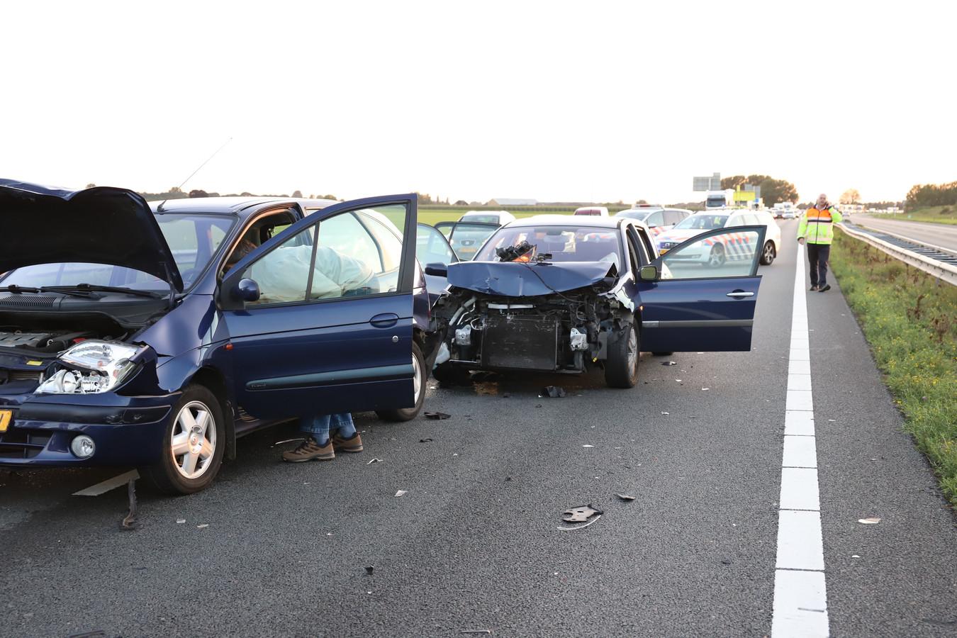 Schade aan de auto's.