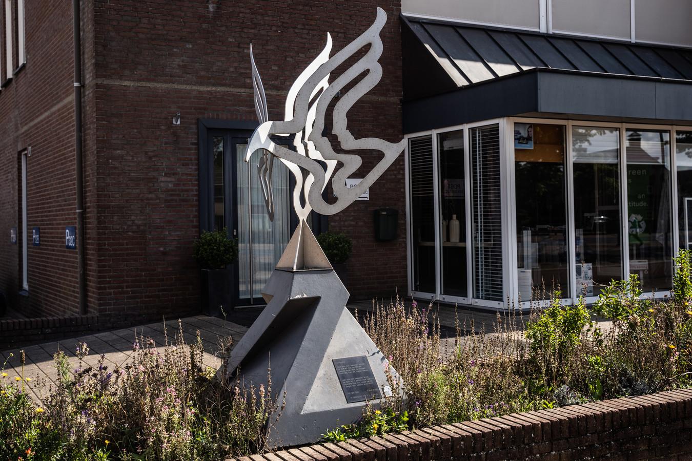 voor de rubriek buitenbeeld. het beeld bij Arends wonen in Zetten.