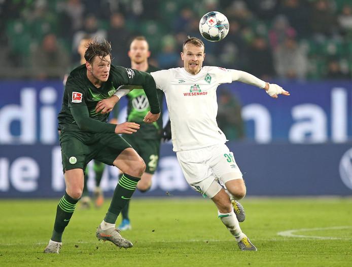Wout Weghorst scoorde voor Wolfsburg, maar kon een nederlaag voor zijn ploeg niet voorkomen.