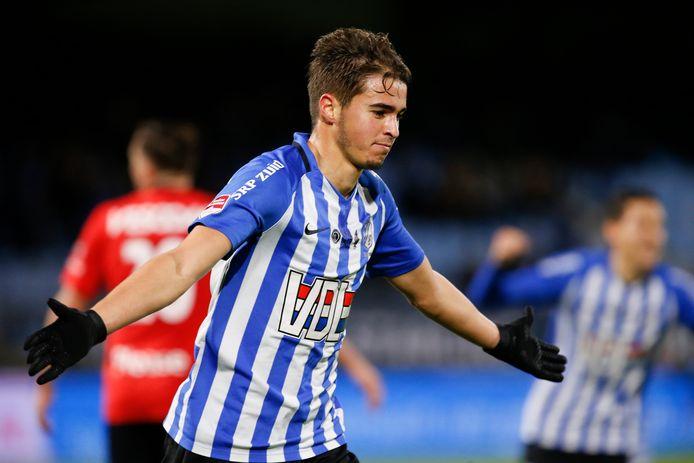 Samy Bourard maakte afgelopen seizoen in 31 officiële duels 13 goals voor FC Eindhoven.