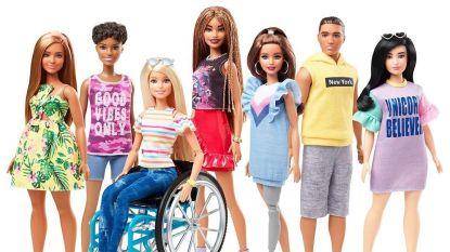 Vanaf nu bestaan er ook Barbies in een rolstoel of met een prothese