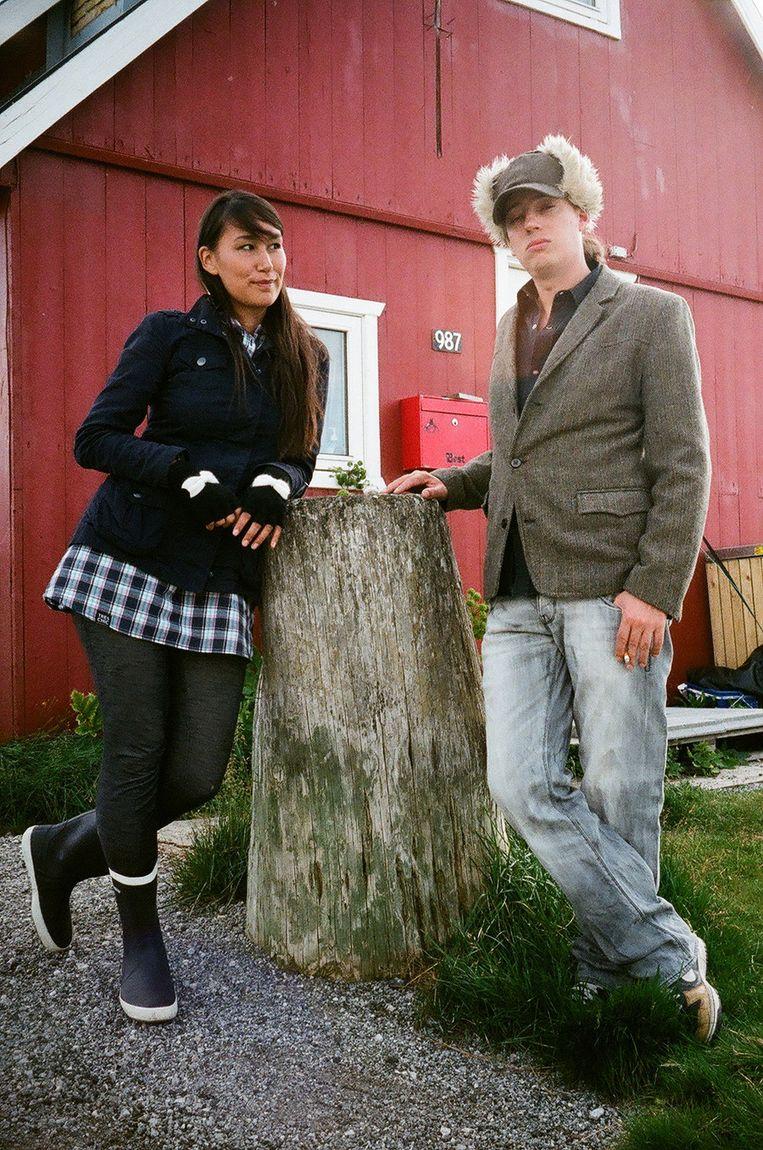 Nive en Jan in Groenland.