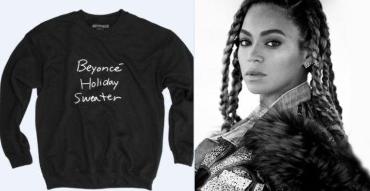 Beste Kersttrui.Beyonce Ontwerpt Een Kersttrui Maar Twitter Is Er Geen Fan Van