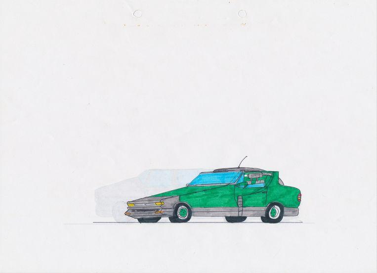 Van den Brink: 'Het liefst ontwierp ik auto's, die stuurde ik naar Volvo en Renault'. Beeld Sebas van den Brink