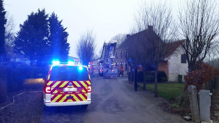 De brandweer snelde naar een schouwbrand in Bockstaele.