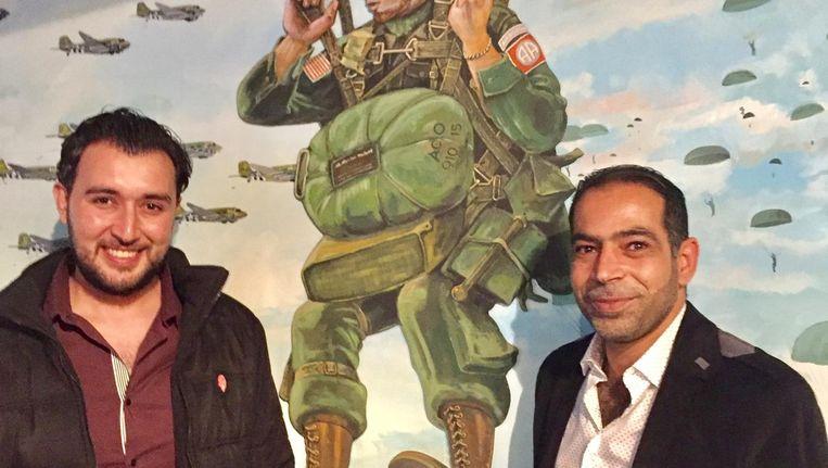 Mahmoud en Mohammed (rechts), vluchtelingen uit Homs. Beeld