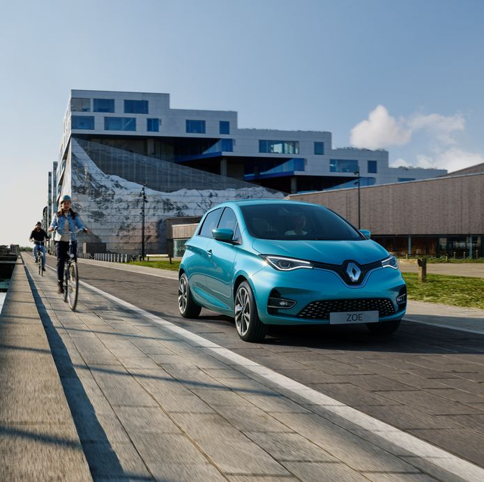 De Renault Zoe kreeg een facelift  en een beter accupakket.