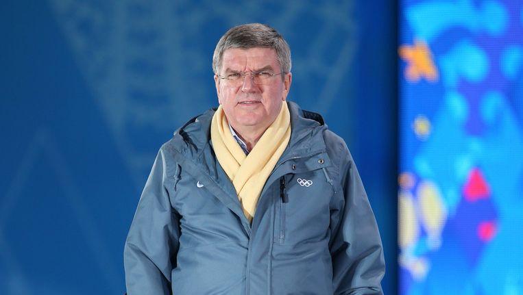 Thomas Bach, voorzitter van het Internationaal Olympisch Comité. Beeld getty