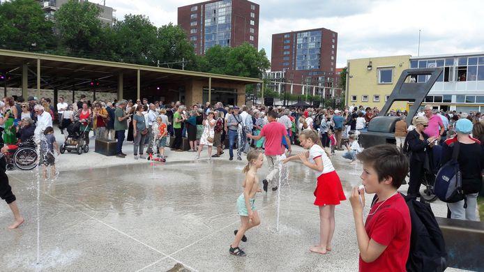 De opening van het Spoorpark in Tilburg in juni.
