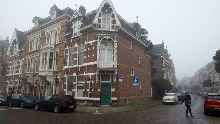 Het pand aan de Banstraat in Den Haag waar vorige week werd ingebroken. Beeld anp
